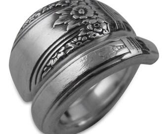 Vintage Wedding, Eco Wedding, Silver Wedding, Silver Wedding Jewelry, Spoon Ring, Eco Friendly, FIRST LOVE