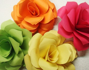 Paper Roses 4 Inches 100 QTY   any color escort cards name placement cards embellishments Special Order