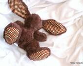 Phat B bunny - custom order - minky plush - many colors