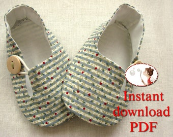 Tulip Baby Loafers Sewing Pattern
