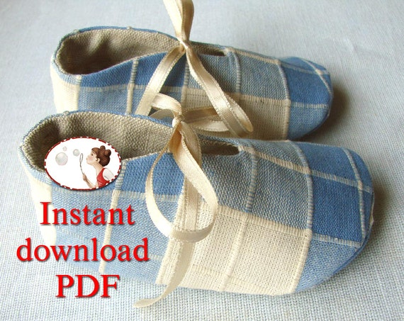 Baby. Boy. Girl. Shoes. Blue Meadow. Sewing. Pattern. PDF. 0-24 months