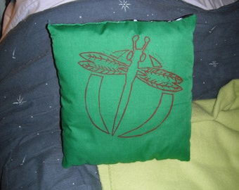Silk-screen printed Dragonfly pillow