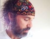 Black Bubble Band Gypsy Wrap, size M  or L - elastic hair wrap, yoga headband, dreadlocks:  Gypsy Wraps by Julie Bartel