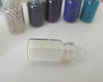 Fake Sugar Sprinkles / Micro Marbles (Clear Sugar) - for Miniature Food Deco and Nail Art