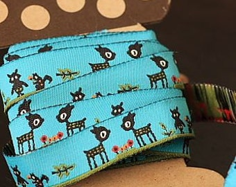 Ribbon-Sewing Tape-Jacquard Ribbon 1 yard-Deers