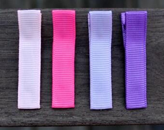 No Slip Hair Clips - Pink, Hot Pink, Purple, Lavender