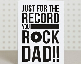 You Rock Dad - Dad Birthday Card - Father's Day Card - Funny Father's Day Card