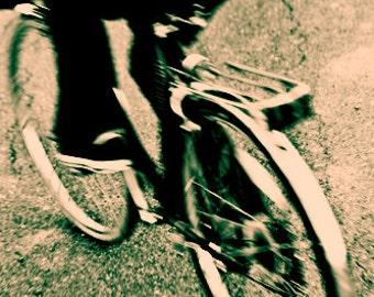 Biking Through Thunder 8x12 Inch Photographic Print