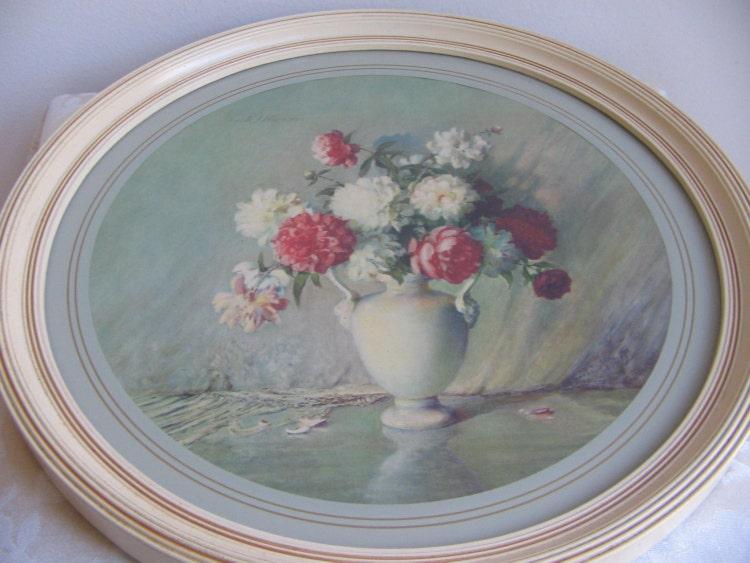 Vintage Floral Still Life By Carle J Blenner By