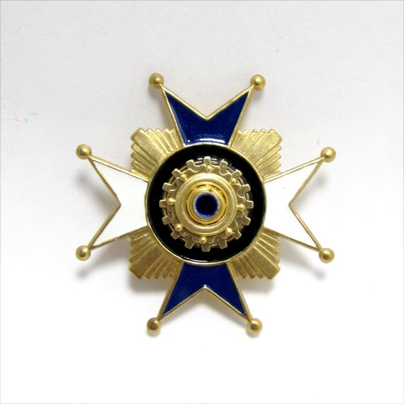 Maltese Cross Steampunk Imperial Military Badge / Pin -for- The Highly Decorated