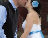 Wedding Hair Flower, CORNFLOWER BLUE Wedding Hair Flower, Blue Hair Flower Accessories, Blue Bridal Accessories, Something Blue Weddings