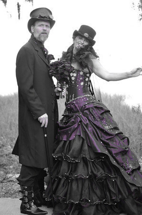 Steampunk Wedding Dress Available in other colors Custom Made to your Measurements