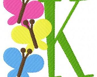 Butterfly Promise Machine Embroidery Monogram Design Set, Machine Embroidery Designs, Embroidery Font // Joyful Stitches