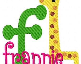 Giraffe Nursery Machine Embroidery Monogram Design Set // Joyful Stitches