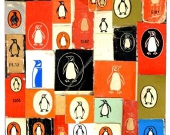 Penguin A4 Giclee print.