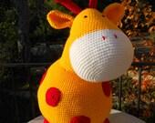 Crochet pattern pillow pet duck, giant elephant or giraffe / haakpatroon knuffelkussen eend, ballonolifant of giraf