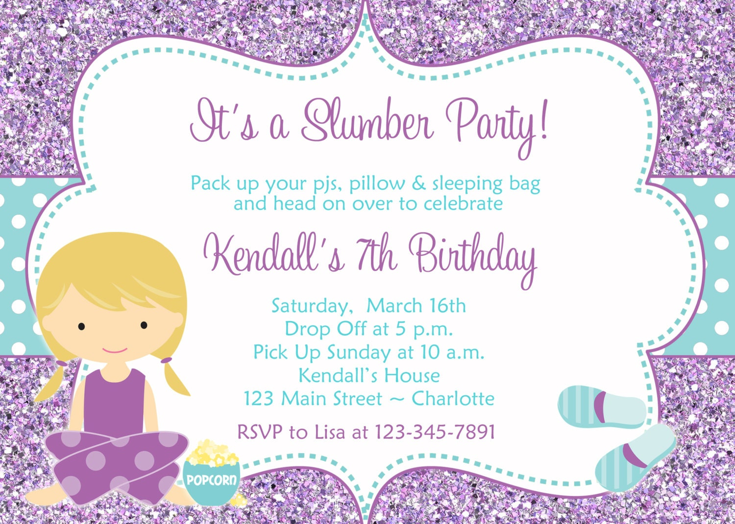 birthday slumber party invitations - Ideal.vistalist.co