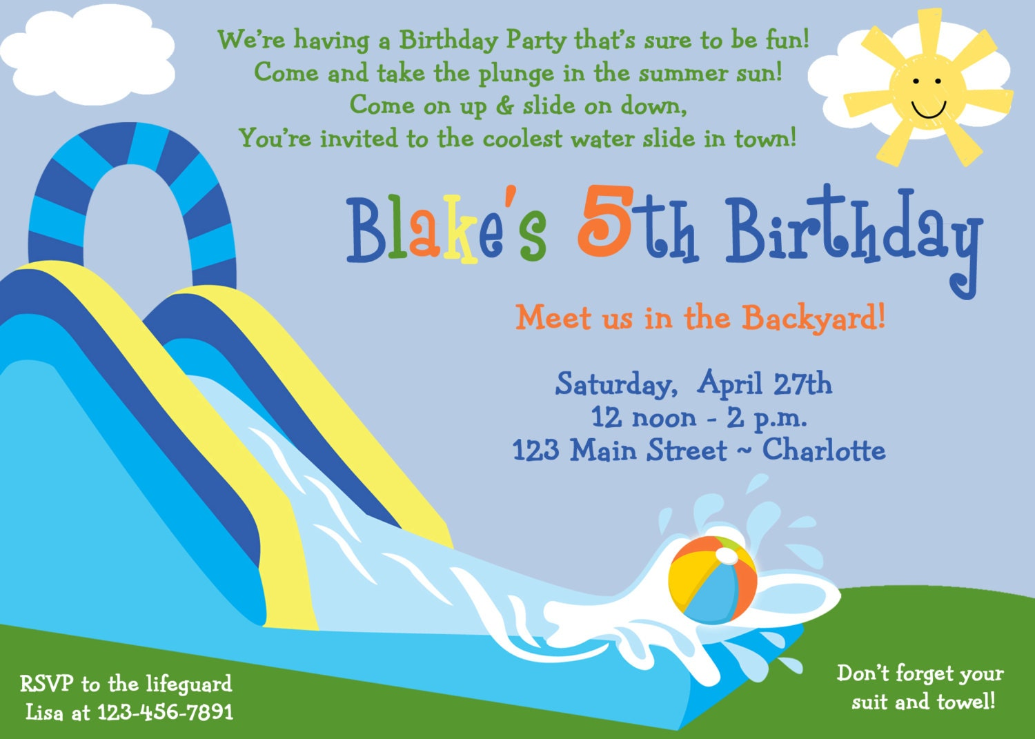 Pool Party Invite Wording is best invitation template