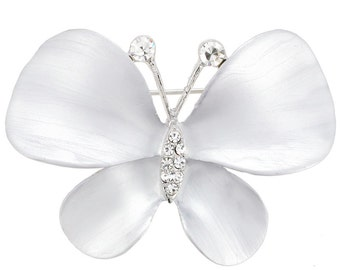 White Butterfly Pin Fashion Pin Brooch 1003802