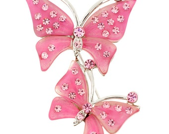 Pink Couple Butterfly Pin Brooch 1003102
