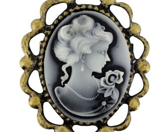 Vintage Style Cameo Pin Brooch 1003011