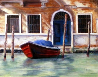 Venice Canal oil painting by Alexandra Kopp 9x12 inches