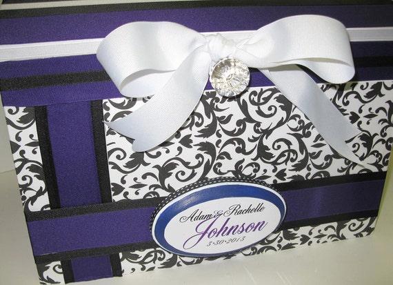 Wedding Keepsake/Gift Box with Plaque-Large