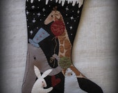 Honor Christmas in Your Heart Christmas Stocking E-PATTERN by cheswickcompany