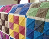 Nine Patch Mitered Square Afghan Pattern