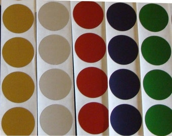 """100 Round 1"""" inch Scratch Off Stickers Labels Games Tickets Favors Promotional - choice of colors"""