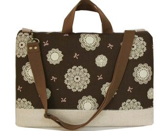 """SALE-15"""" Macbook or Laptop bag with handles and detachable shoulder strap- Ready to ship"""