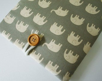 ipad case sleeve for Ipad 3  /ipad 4 - Padded sleeve- Gray  elephant