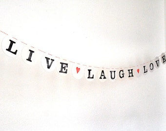 LIVE Laugh LOVE // Letter Garland handmade by renna deluxe