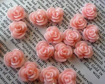 Light Pink Resin Flower Cabochon 14mm