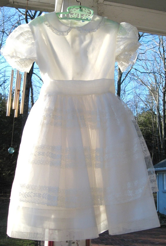 First Communion Dress Vintage Flower Girl Dress Sweet