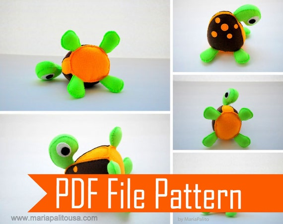 Free Sewing Pattern For Turtle Pillow: Turtle Pattern Turtle Sewing Pattern Felt Turtle Sewing,