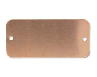 Copper Rectangle Blank for Cuffs Stamping Blank- Approx. -1  5/8 inch 44.x 20.7 mm 24g. You get 2-MSC2083