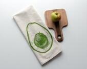 Natural Flour Sack Towel - Avocado - Hand Screen Printed