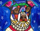 60% Off- Rat Terrier art dog  Art Print Poster by Heather Galler by Heather Galler (HG798)