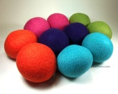 Wool Dryer Balls - Carnival - Set of 10 Eco Friendly - Can be Scented or Unscented