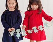 Paper Doll Chain -Pigtails Around the World