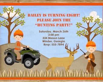 Hunting Invitation Deer Invitation Boy or Girl-Digital File