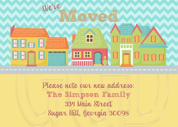 New home card or housewarming party invitation digital file like this item stopboris Images