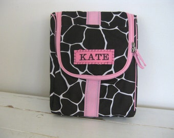 Toiletry Bag  With Monogram -- Giraffe