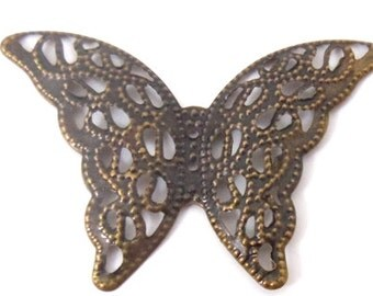 20 BRONZE BUTTERFLY BUTERFLY charms
