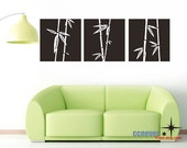 Bamboo Shoot panel 65x20 inch----Removable Graphic Art wall decals stickers home decor