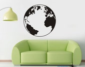 Earth Globe 23by23 inch----Removable Graphic Art wall decals stickers home decor