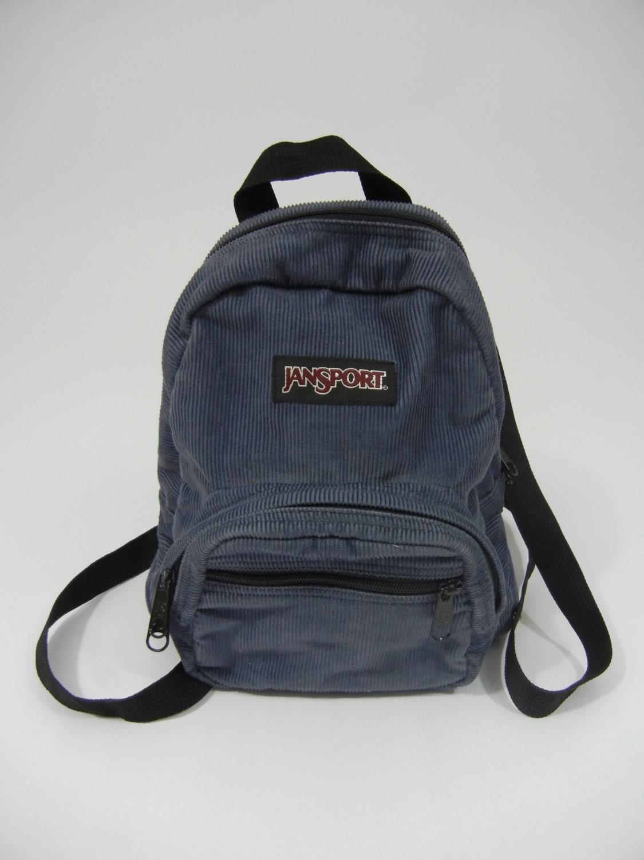 Vintage Mini Backpack Jansport Corduroy Grunge 90 s