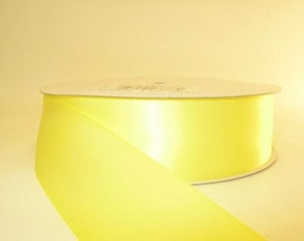 Baby Maize Yellow Ribbon double faced satin ribbon 1.5 inches, Wedding, Special Occasion, Crafts, DIY bridal 1 yard
