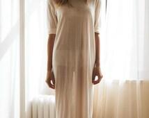 Bridal Silk Knit T Shirt Nightgown Sheer Light Honeymoon Wedding Lingerie Sleepwear Silk Knit Lingerie Silk Nightgown
